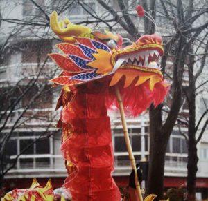 Año Nuevo Chino del Gallo del fuego